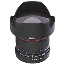 Vivitar 8mm f/3.5 HD Aspherical Fisheye Lens for Canon EOS Rabel, 7D, 70D, 50D, 40D, 30D, 20D, 10D, 60Da, 60D, T5i, (700D) T5, (1200D) T4i, (650D) T3i, (600D) T3, (1100D) T2i, (550D) T1i, SL1, (100D) XS, (1000D) XSi, XTi, XT, Digital SLR Cameras