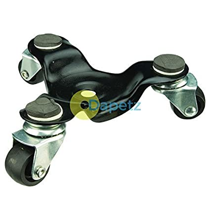 dapetz 3 con ruedas rueda giratoria Dolly 60kg Levantar altura 60mm Ruedas Para Mover Muebles Electrodoméstico