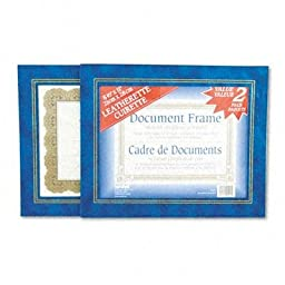Nudell - 2 Pack - Leatherette Document Frame 8-1/2 X 11 Blue Pack Of Two \
