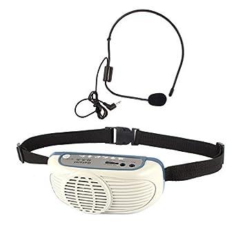 Con pilas de la pretina Amplificador recargable w micrófono auricular: Amazon.es: Instrumentos musicales