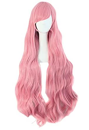 """MapofBeauty Pink Long Party Costume 40"""" 100cm Cosplay Wig"""