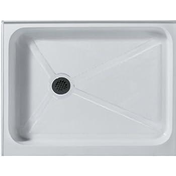 VIGO 36 X 48 In. Rectangular Shower Base Left Drain, White