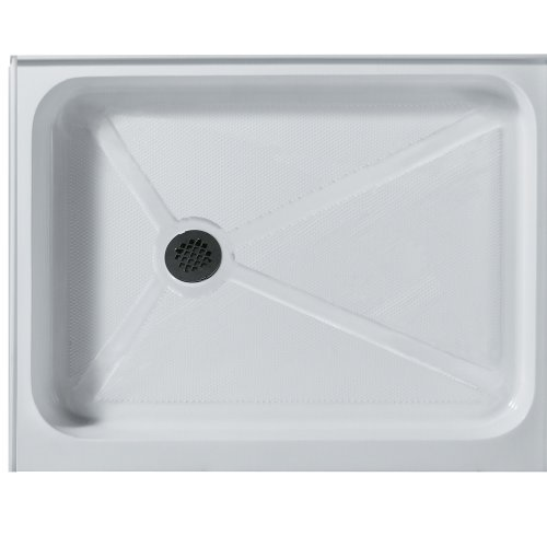 VIGO 36 x 48-in. Rectangular Shower Base Left Drain, White