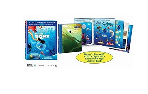 Finding Dory Ultimate Collector's Edition 3D Blu Ray with Exclusive 69 - Page Activity Book (3D + Blu Ray + DVD + Digital HD)
