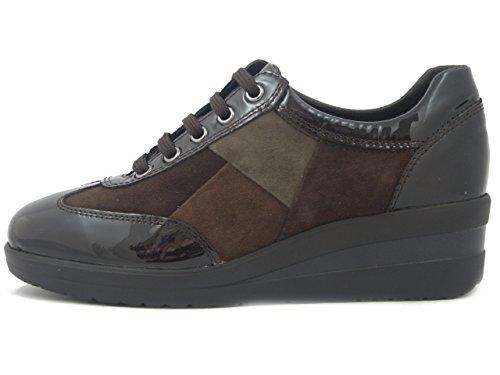 Camoscio Zeppa Marrone Sneakers 25018 Step Estraibile Confort Linea Bassa Plantare Pelle Cm 4 Joy In Donna E w78anxnTqz