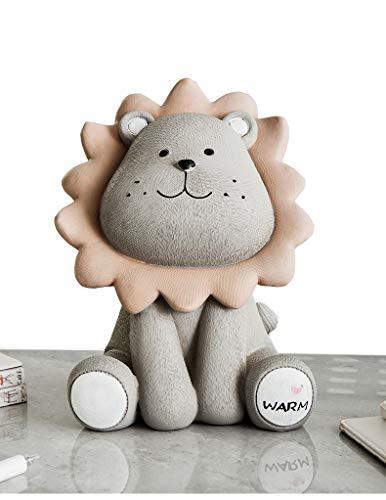 ShengTai ST Cute Cartoon Lion Piggy Bank Home Animal Jewelry Ornaments ()