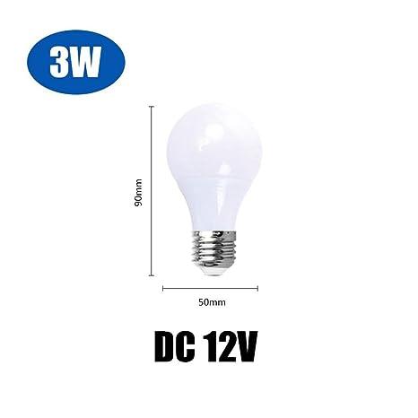 Ligero Bombilla LED E27 DC 12V Lámparas LED de 3W 5W 7W 9W 12W 15W 36W