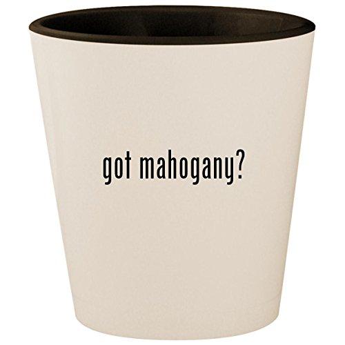 - got mahogany? - White Outer & Black Inner Ceramic 1.5oz Shot Glass