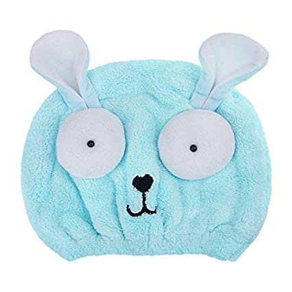 JINTN Toallas de baño niñas, muy absorbentes, de secado rápido, turbante para el