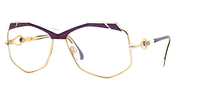 e0843f0347 Image Unavailable. Image not available for. Color  Cazal 230 237 Gold and  Purple Authentic Women Vintage Eyeglasses Frame