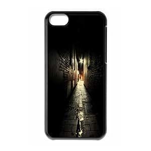 Okaycosama Funny IPhone 5C Cases City 93 for Guys Design, Apple Iphone 5c Case, {Black}