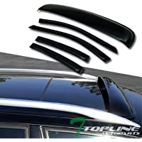 Topline Autopart Sun Rain Vent Window Visors+Sunroof Moon...
