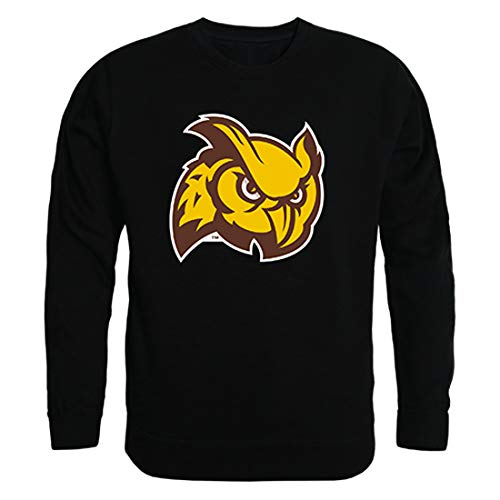 (W Republic Rowan Profs NCAA Mens College Crewneck Fleece Sweatshirt - X-Large, Black)