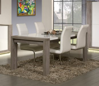 Contemporary Oak Dining Tables Uk Textured up close Treviso Solid