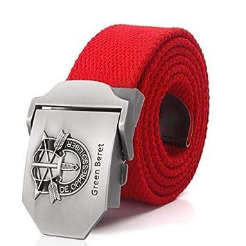WDYDDW MenS Belt MenS Belt Us Army Green Beret Special Forces Special Canvas Belt MenS Belt