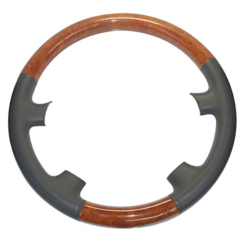 her Brown Wood Steering Wheel Cover Decor Protector for 2003 to 2007 Land Cruiser LX470 GX470 4700 Prado 4Runner Sequoia Tundra Sienna Tacoma Highlander ()