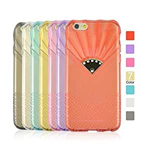 DD Angibabe Sector with Diamond Wavy TPU Case for iPhone 6 Plus(Assorted Color) , Golden