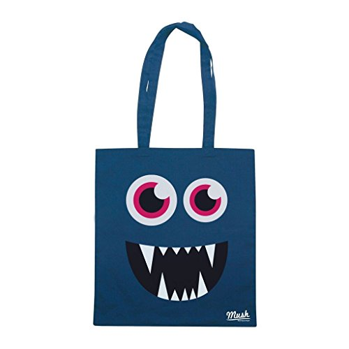 Borsa FACE MONSTER VAMPIRE - Blu navy - DIVERTENTE by Mush Dress Your Style