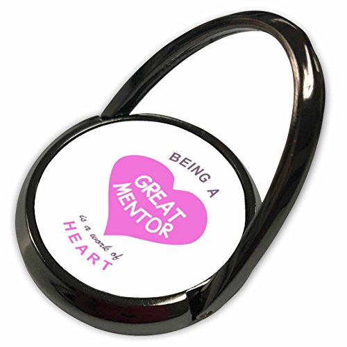 3dRose InspirationzStore Love series - Being a Great Mentor is a work of Heart - pink - good mentoring quote - Phone Ring (phr_183870_1) -