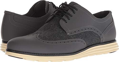 - Cole Haan Men's Original Grand Wingtip Oxford Magnet/Grey Wool/Lambs Wool 10 W US