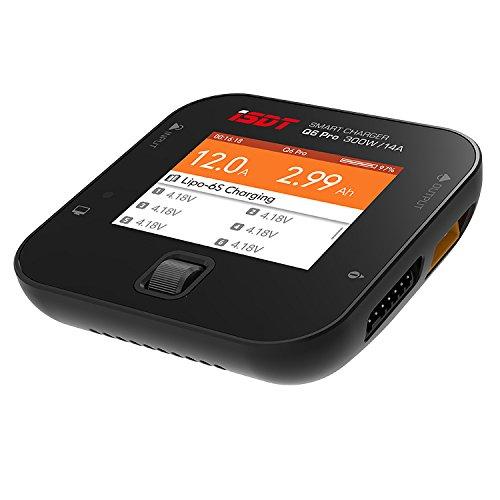 ISDT Q6 Pro BattGo 300W 14A Pocket Battery Balance Smart Digital Charger for LiFe/Lilon/LiPo/LiHv/NiMH/Cd/Pb RC Models DIY Spare Part Q6 Plus Upgraded Version