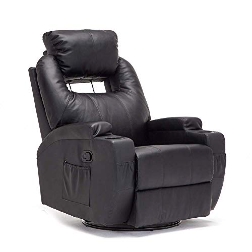 mecor Massage Armchair Recliner Chair Bonded Leather Ergonomic Heated...