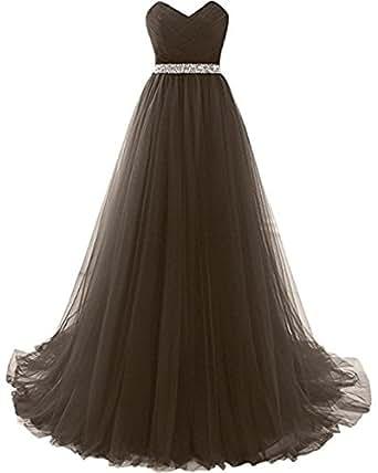 Mesh Long dress Women Sexy Elegant Tulle Plus Size Bridesmaids Dresses Brown,Size 22 Plus
