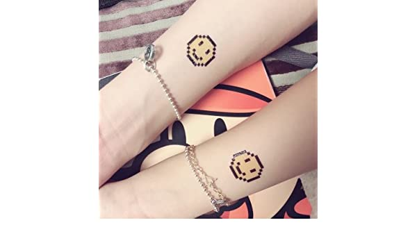 Amazoncom Temporary Tattoos Smiley Face Tattoo Stickers