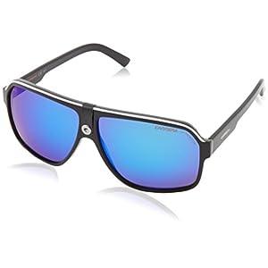 Carrera Carrera 33/S CA33S Aviator Sunglasses, Black Crystal/Gray/Blue, 62 mm