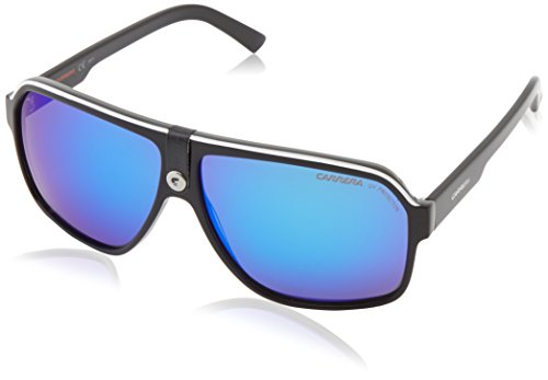 Carrera Carrera 33/S CA33S Aviator Sunglasses, Black Crystal/Gray/Blue, 62 - Glasses Safilo