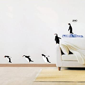 Penguin Wall Stickers Childrens Wall Stickers Individual Penguin - Nursery wall decals uk