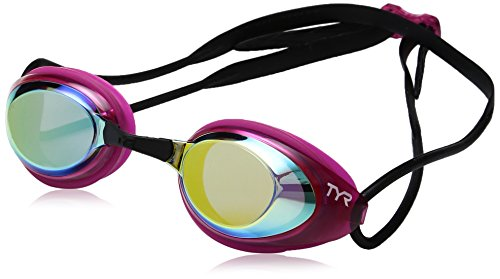 TYR Blackhawk Racing Femme Mirrored Googles, Gold/Pink/Black, One Size