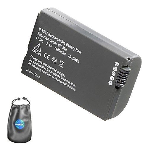 Digital Replacement Camera and Camcorder Battery for Canon BP-315, BP-308, BP-308B - Includes Lens Pouch ()