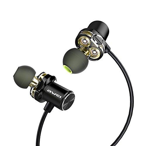 Bluetooth Headphones, AWEI Best Dual Drivers Wireless Sports