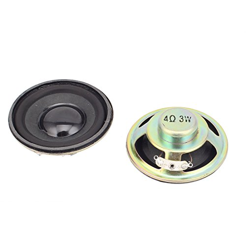 Aexit 2 Pcs 57mm 4Ohm 3W External Magnetic Speaker Loudspeaker Black by Aexit