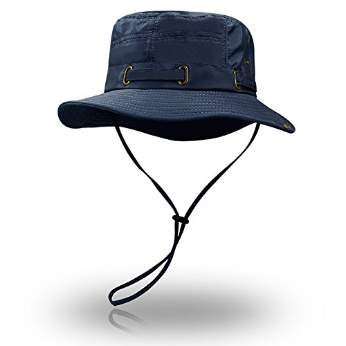 Peicees Fishing Hat Summer Sun Bonnie Hat UPF 50+ UV Protection Wide Brim Cap Water Resistant Safari Hat for Men Women Boys Girls | Perfect Bucket Hat for Adventure Hunting Camping Hiking Travel Beach (Proper Way To Wear A Cowboy Hat)