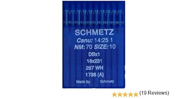 La Canilla ® - 10 Agujas para Máquina de Coser Industrial Schmetz ...