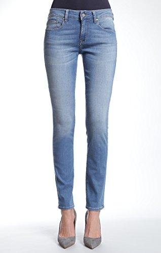 Mavi Jeans Women's Alexa Mid Rise Skinny, LT Brushed Shanti, 32/30
