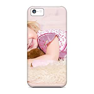 New Customized Design People Children The Girl On The Floor For Iphone 5c Cases Comfortable For Lovers And Friends For Christmas Gifts
