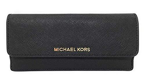 Michael Kors Jet Set Travel Flat Saffiano Leather Wallet ()