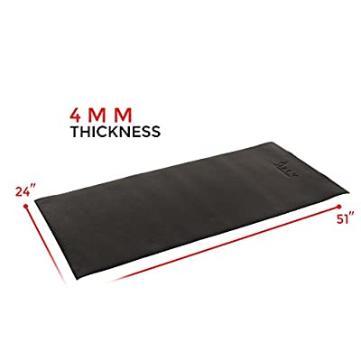 Sunny Health & Fitness NO. 083 Fitness Equipment Floor Mat, Black, 4' x 2'