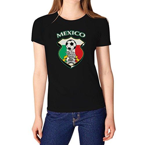 (TeeStars Women's - Mexico Soccer Jersey T-Shirt X-Large Black)