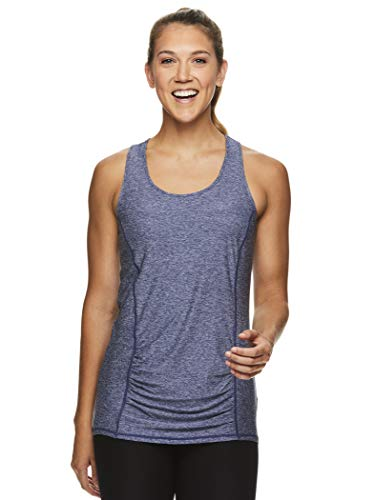 HEAD Women's Racerback Tank Top - Sleeveless Performance Activewear Shirt w/Open Back Options - Medieval Blue Heather Perfect Match, X-Large]()