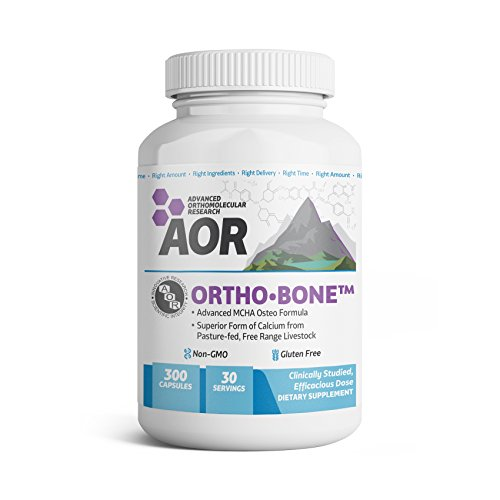 - AOR - Ortho Bone, Comprehensive Support for Healthy Bones and Help Improve Bone Density with Calcium, Folate, and Vitamins K2 and D3, Non-GMO, Gluten-Free, 300 Capsules