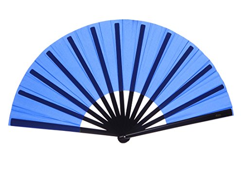 Chinese Nylon-Cloth Fan for Ladies (Royal Blue)