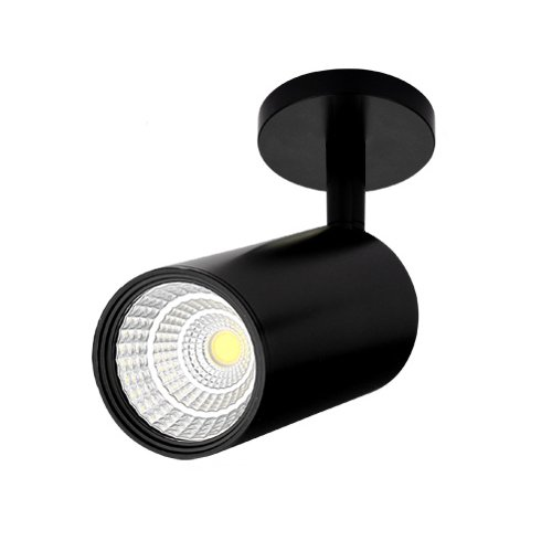 BRILLRAYDO 12W LED Ceiling Directional Spotlight Surfaced Light Focus Lighting Adjustable Picture Project Black Warm White by BRILLRAYDO (Image #5)