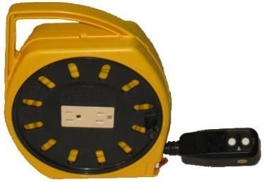 Multi Outlet Manual Wind Up Cord Reel W Gfci Extension Cords Amazon Com