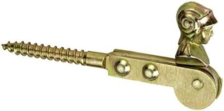GAH-Alberts 317256 Fensterladen-Feststeller 195 mm Frauenkopf galvanisch gelb verzinkt zum Einschrauben