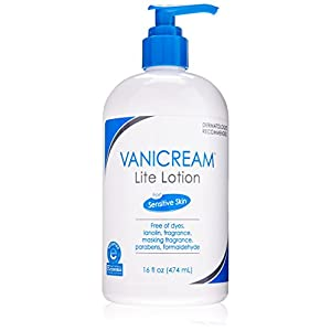 Vanicream Lite Lotion Pump for Sensitive Skin, Free of Dyes, Lanolin, Fragrance, Parabens and Formaldehyde, 16 oz.