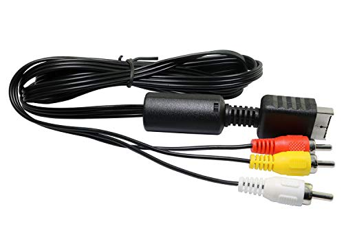 RuiLing 1-Pack 1.8m/6ft PS2 Audio Video AV Cable to 3 RCA Cable for Sony Playstation PS3 PSX ()